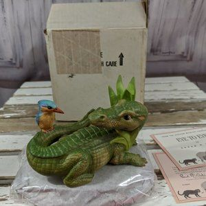 Franklin Mint Eye to Eye Alligator African Wildlif